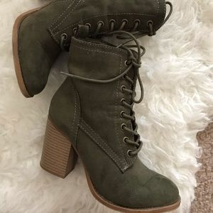 Charlotte Russe Shoes - Green boots
